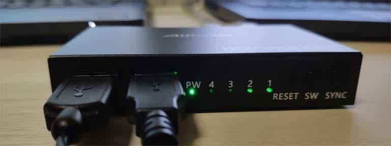 USB分配器AIMOSの正面画像